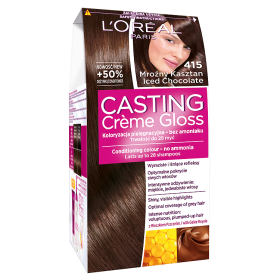 L'Oréal Paris Casting Crème Gloss Farba do włosów 415 Mroźny kasztan
