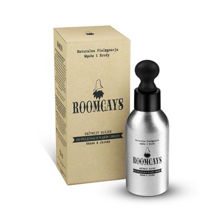 Roomcays Argan & Jojoba Odżywczy olejek do pielęgnacji wąsów i brody 50 ml